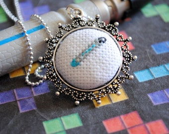 The 10th Sonic Screwdriver Inspired  - Pixel Point Pendant