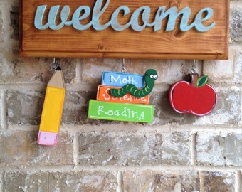 Back to School Ornaments for Welcome Sign