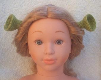 Princess Fiona's ears ( matching man's Shrek hat/beanie ).