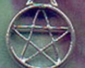Wiccan Pentacle Pentagram Handfasting Ring Pentacle Pendant P0137