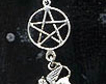 Witchy griffin Pentacle Pentagram Ear Cuff Sterling Silver PnecGrif