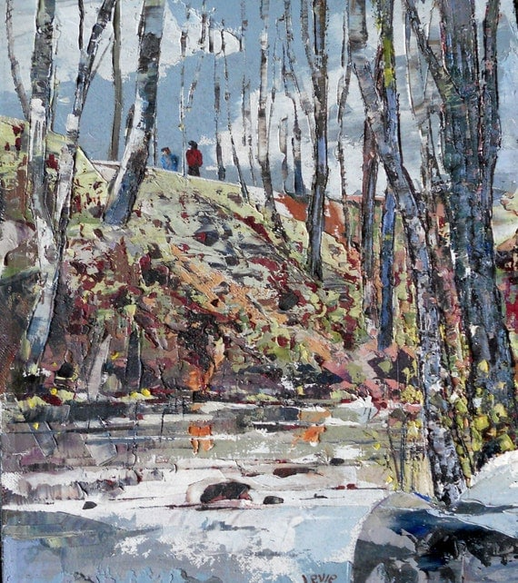 Charland River St Augustin Quebec Winter By Oilpaintingsbylevie