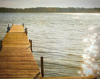 Special, Sale, A Little Lake Magic, fine art photography print, Wall Art, Coastal, Cottage, Cabin, 8x10 print