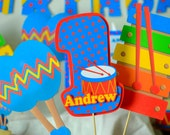 Baby Boy First Birthday Music Party CENTERPIECE Decorations - Musical Instruments, Baby Shower