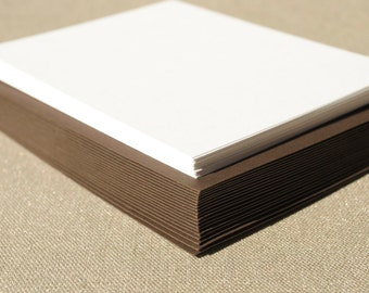 Blank Stationery Set with Brown Envelopes - Set of 20 Flat A2 Size Cards
