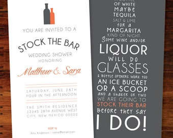 Stock The Bar Invitations - set of 15