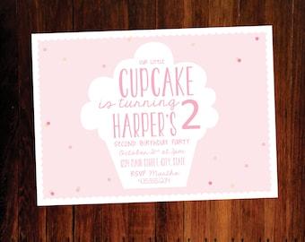 Cupcake Birthday invitation - set of 12