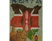 KENYA 1FS- Handmade Leather Journal / Sketchbook - Travel Art