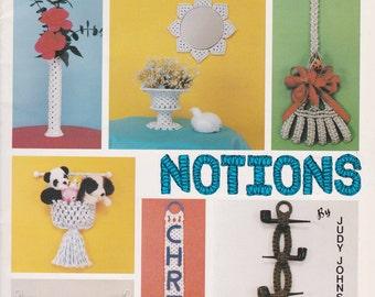 Knotting Notions by Judy Johnson  - Macrame Designs 1980  Vintage Macrame Knotting