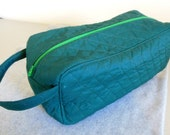 Shoe Carrier or Toiletry Bag -- Quilted Green - BonniesSewCrazy
