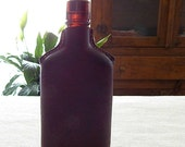 Leather Flask . Leather Wrapped Glass Bottle . Handcrafted Leather Crafts . Leather Accessory . Rustic Western . Liquor Bottle