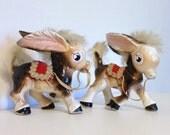 Vintage Donkey Figurines (2)