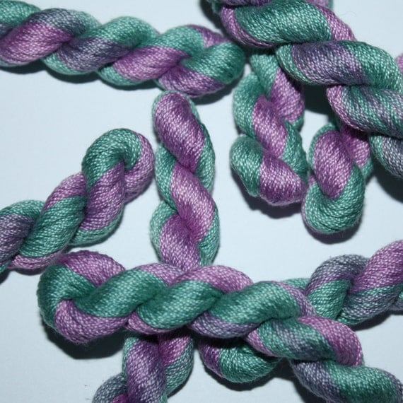 Hand Dyed Stranded Cotton Floss Thread Embroidery