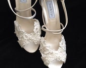 MICKEY-C - Alencon Lace 3 inch Wedge Heel Wedding Shoes