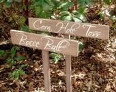 Wedding Yard Game Signs - Custom Wedding Signs - Corn Hole - Bocce Ball Sign - Wood Wedding Sign