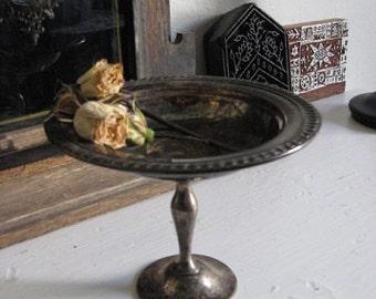 Pedestal Compote Dish Silver plate