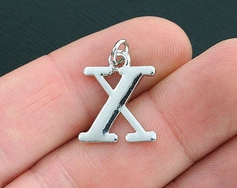 4 Chi Greek Letter Charms Antique Silver Tone - SC4030