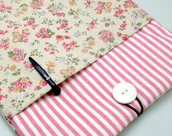 iPad Air case 2, iPad cover, iPad sleeve/ Samsung Galaxy Tab 3 10.1with 2 pockets, PADDED - Woodland flowers