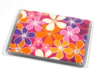 Card Case Mini Wallet Girl Flowers