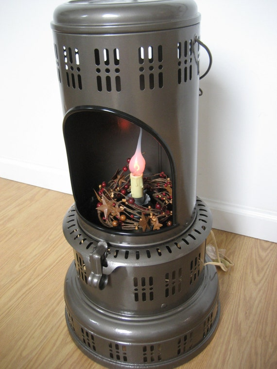 Vintage Perfection Kerosene Heater Recycled To Home Decor