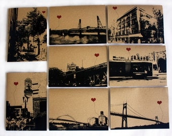 Portland Oregon Lover's Assorted Boxed Set of 8 note cards