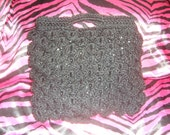 dragon toothless scale stitch crochet black glitter wool tote handbag vegan bag wow