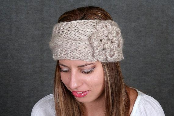 Knitted Headband Chunky Headband Ear Warmer Cabled by ...