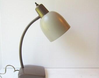 SALE Vintage Industrial Lamp - Gooseneck Desk Lamp - Home / Office - Task Light