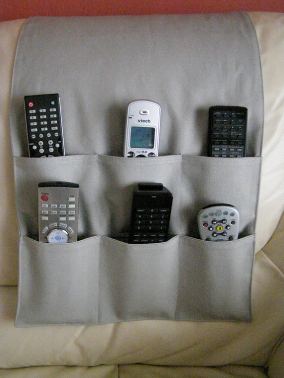 Remote Control Caddy Holder For Tv Dvd 6 Pocket By