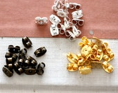 Antique Bronze/ Silver /Gold  Plated Brass Earring Studs Back Stoppers  Nickel Free (EAR-89)