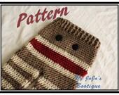 PATTERN - Crochet Monkey Baby Pants PATTERN  - Baby Monkey Pants - PDF Sock Monkey Pants - Baby Pants with Tie String - by JoJo's Bootique