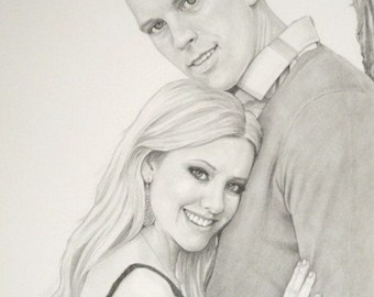 Custom Wedding Pencil Portrait Commission