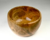 Wooden Ambrosia Maple Bowl - Handmade - Figured by Nature - Knitting Bowl - Snack - Keys - Misc Items