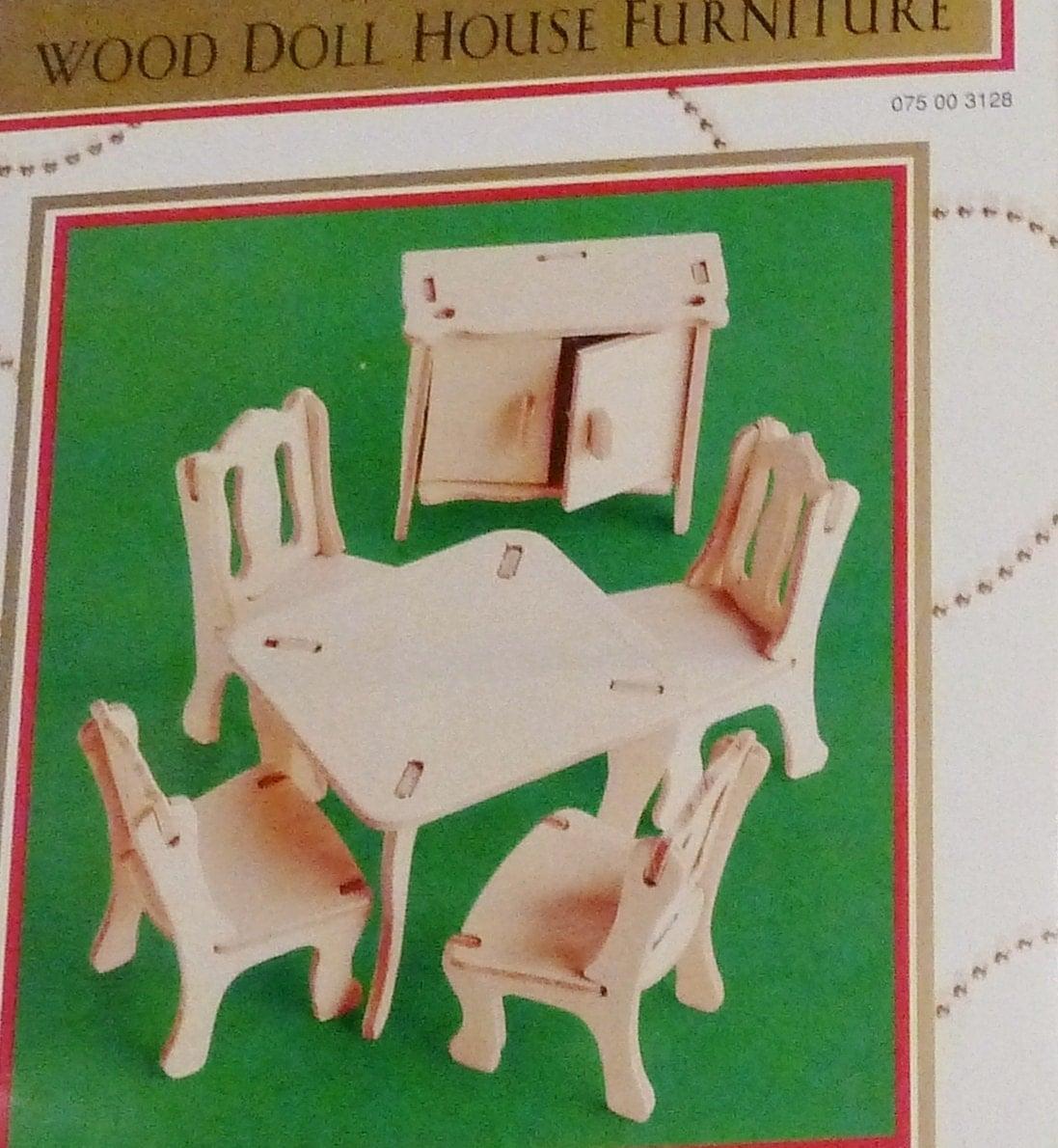 Dollhouse Furniture Kit Miniature Wood Furniture No Tools