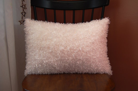 Fluffy Funky White Pillow Decorative Super By