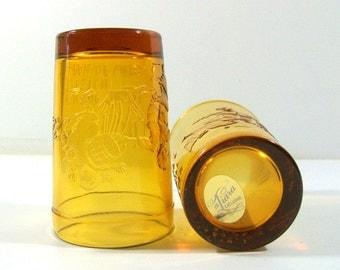 Tiara Jack & Jill Nursery Rhyme Amber Glassware