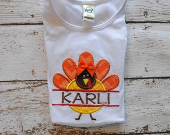 Turkey with Personalized Name Shirt or body suit