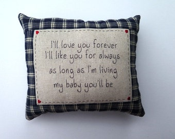 I'll love you forever - embroidered pillow