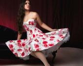 Bespoke rose print corset