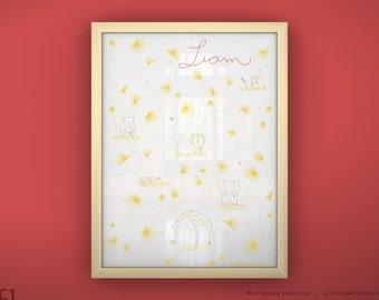 "Children's Art Print - You Are My Sunshine - Unframed Print - 13 x 19"""