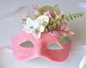 MASK- Florentine Floral - masquerade mask, Mardi Gras, ballroom, fairy, Venetian, Halloween