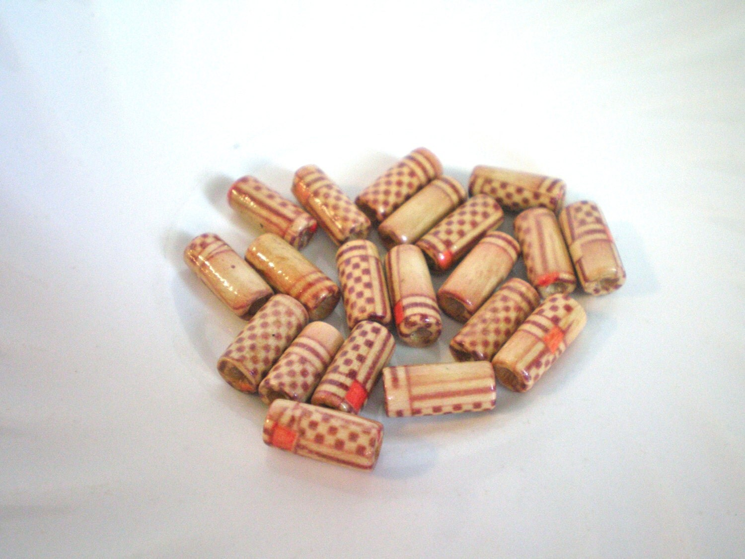 20 wooden tube beads jewelry supplies craft supplies for Craft and jewelry supplies