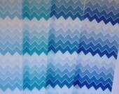 Ombré Chevron VALUEPACK edible image wafer paper FULL SHEETS