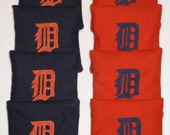 DETROIT TIGERS Cornhole ACA Regulation Bean Corn Toss Bags Embroidered New
