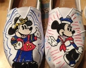 Dooney & Bourke Disney cruise line  print inspired Toms shoes. artwork and Toms included