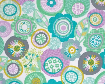 Pixie in Aqua - LA DEE DA  (pwEm034) - Erin McMorris - Free Spirit Fabric  - 1 Yard