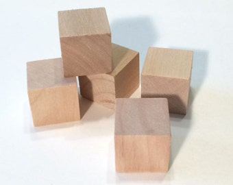 100 Wooden Blocks - 100 blocks 3/4 inch Cubes