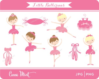 Little Ballerinas Clip Art