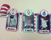 CAT in the HAT Photo Timeline Birthday Banner - Dr. Seuss