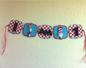 CAT in the HAT First Birthday Party Highchair Banner